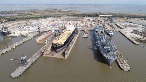 Alabama Shipyard Lopez on dry-dock with Fisher Pierside