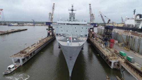 Altair dry-docking