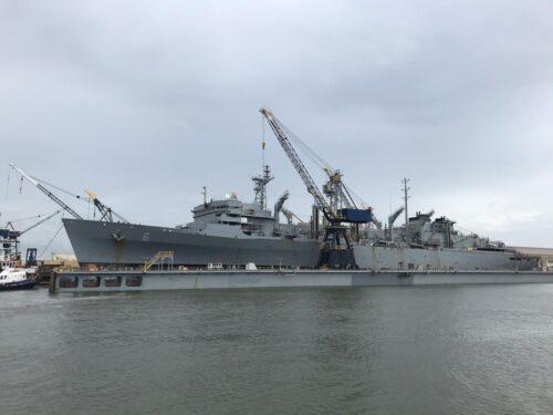 USNS Supply dry-docking!